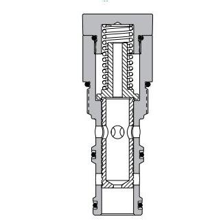 Eaton Vickers PFR11-16 Screw-in Flow Regulator Cartridge Valve
